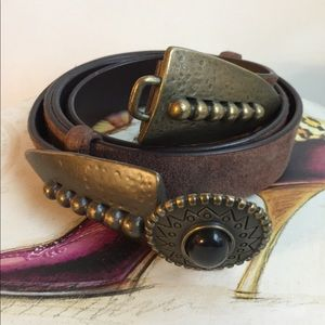 CHICO'S VINTAGE RUSTIC LEATHER BELT SIZE M/L